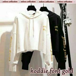 Hoodie font gold