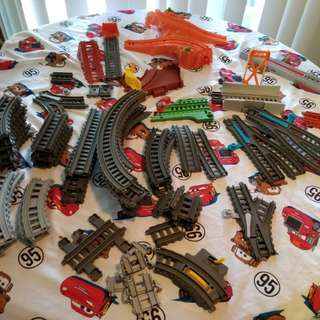 Thomas the train track pieces. 1 train included