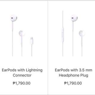 ORIGINAL IPHONE 7 EARPODS
