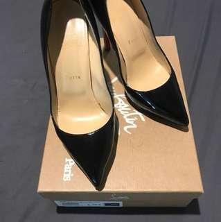 Christian Louboutin Pigalle Plato 120 Patent Calf Heels sz 38.5