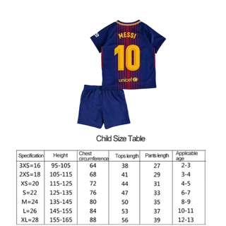 football training suit for kids.