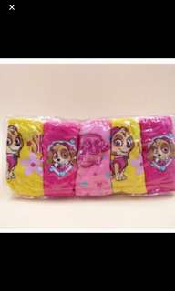 Instock now !! Paw patrol panties brand new 5pcs set size Available For 4-6yrs old
