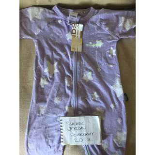 Size 1 Short sleeve Bonds Zip Wondersuit