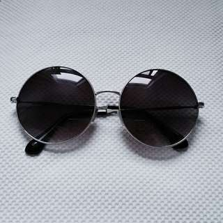 Circle Navy Blue Tinted Lens Sunglasses