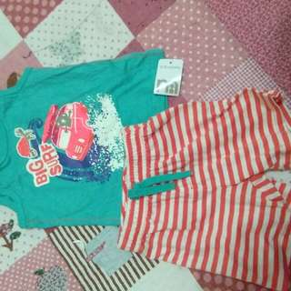 Mothercare shirt and pant 2piece set