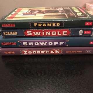 Swindle series by Gordon Korman