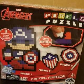 Captain America Pixels Puzzle