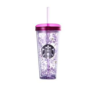[PO] Spring Flower Glitter Cold Cup