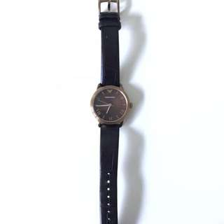Emporio Armani Leather Watch