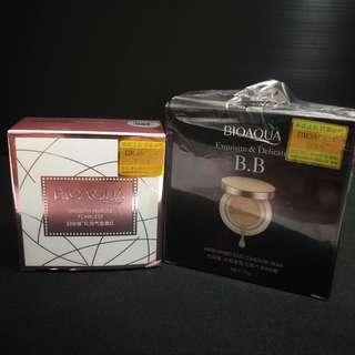 Bioaqua BB Cushion Gold + Blusher