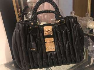 Designer style leather bag *miu miu*