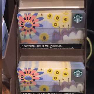 [PO] Starbucks Korea Spring Flower Card 2018
