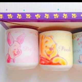 全新 Disney Winnie The Pooh 杯 一套四隻