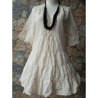 Midi Broken White Dress