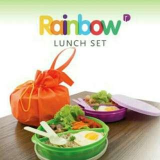 Rainbow lunch set 3 warna