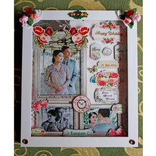 Dekorasi Dinding Scrapframe Edisi Wedding Gift