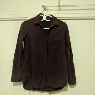 Uniqlo Maroon Dress Shirt