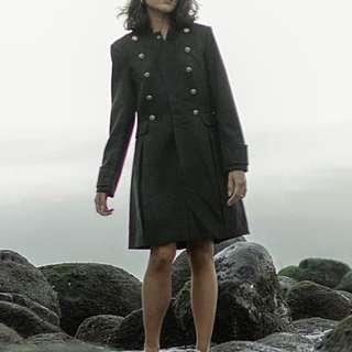 H&M Green military coat