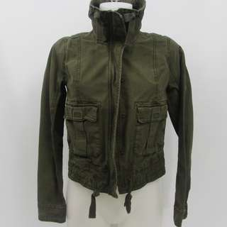 Abercrombie & Fitch Military Cargo Jacket Forest Green Women's Size S