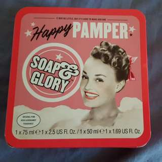 Soap And Glory Happy Pamper Set (original Pink Rose And Bergamot Fragrance)