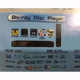 PIONEER 3D BDP-160 BD DISC PLAYER