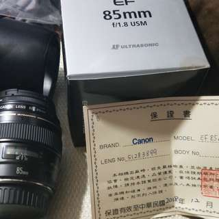 Almost new 2mos old 85mm 1.8 protector lens hoya japan