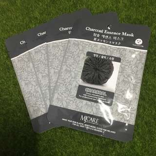 Brand New 4pcs Charcoal Korean Face Mask Sheet