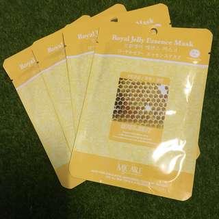 Brand New 4pcs Royal Jelly Korean Face Mask Sheet