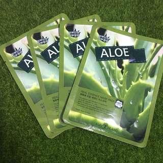 Brand New 4pcs  Aloe Vera Korean Face Mask Sheet