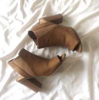 Ankle Peep Toe Boots