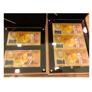 Must sale in 3 days CIA 2 in 1 and 3 uncut Singapore 50Y