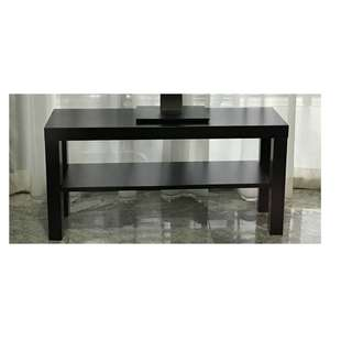 Wood TV console black