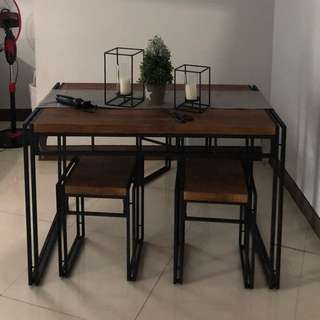 Four Seater Industrial Dinning Table