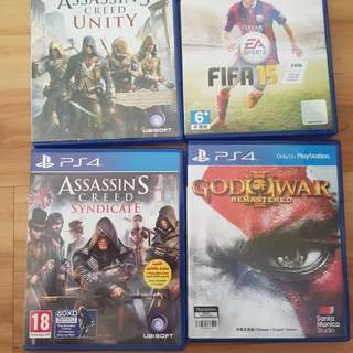 Various Used PS4 games