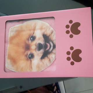 Pink Bath Towel With Dog Motif