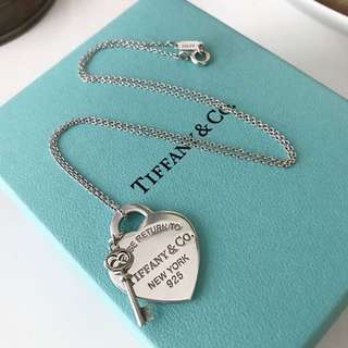 Tiffany and Co. Heart and Key Necklace