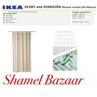 IKEA OLEBY AND RINGSJÖN Shower curtain Set- Natural Color