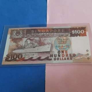 $100 ship sign HTT ORUGINAL GEM UNC .