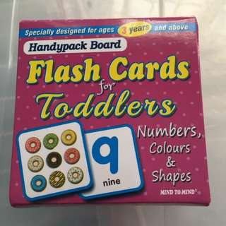 Board flash card for toddlers