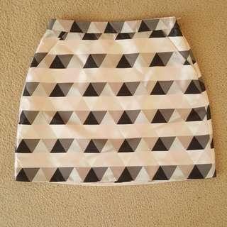 Kookai patterened fitted mini skirt