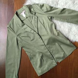 Supre army green blazer