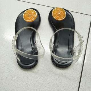 Sendal jeruk black size 37