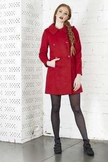 Dangerfield red wool coat plus detachable hood size 10
