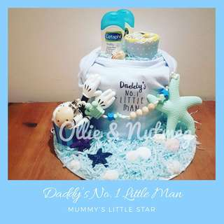 Customised diaper cake Hamper gift for baby shower