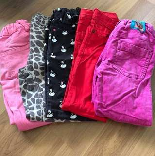 5 pcs H&M/ M&S Girls Long Pants