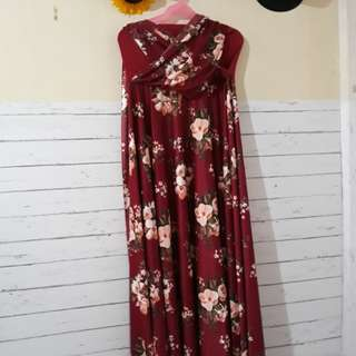 INFINITY MAROON FLORAL GOWN