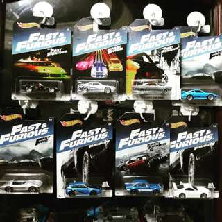 Hotwheels Fast and the Furious Wave 5 Complete Set
