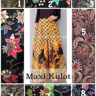 🎋 Maxi Kulot 🎋  Material : Batik Cotton Size: up to 4XL Price: $25