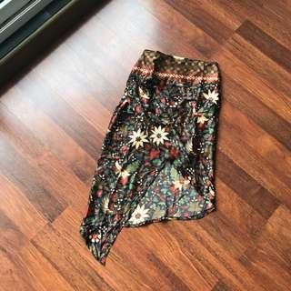 Semi Silk Batik Skirt