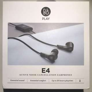 *NIB*B&O PLAY by Bang & Olufsen Beoplay E4 In-Ear Earphone Headphone with Advanced Active Noise Cancelling (Black)